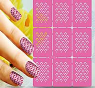 1pcs  Nail Art Hollow Stickers New Design Wave Stripe Heart Geomestric Shape  Nail Art Beauty  L101-110