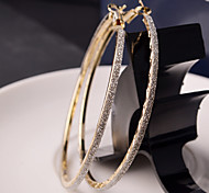 Top Quality European Style Hollow Out Gold/Silver Polished Hoop Earrings for Wedding Party