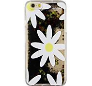 weiße Blüten schwarze Flüssigkeit Sand PC-Telefonkasten für iphone6&6s