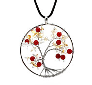 Handmade crystal gravel Tree of Life Tree of Life pendant crystal necklace factory outlets