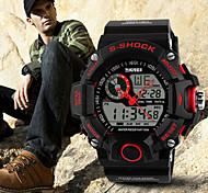 Masculino Relógio Esportivo Digital Impermeável Silicone Banda Preta marca