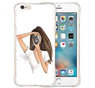 favoritos de la reina de casos de silicona transparente trasero suave para el iPhone 6 / 6s (varios colores)