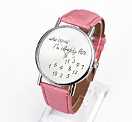 Ladies Fashion Dial PU Deather Dtrap Datch Digital Design