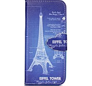 Iron Tower Painted PU Phone Case for iphone SE