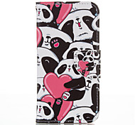 Heart Panda PU leather with Stand Case for Samsung S5