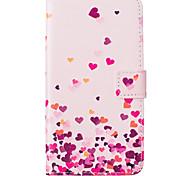 rosa padrão de amor pu tampa do telefone material de couro para Samsung Galaxy J5 / J510 / G360 / G530 / i9060