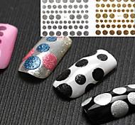 8PCS 3D Western Style Glitter Dot Nail Stickers