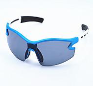 gafas de deporte azules y blancas