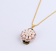 32GB Necklace Flower Pearl Shape Jewelry USB 2.0 Rotatable Flash Memory Stick Drive U Disk ZP-12