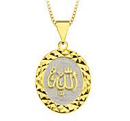Золото 18k покрыло призматических кулон к богу ювелирные изделия Специальный дизайн для женщин / мужчин подарочных оптовых p30140
