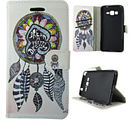For Samsung Galaxy Case Card Holder / Wallet / with Stand / Flip Case Full Body Case Dream Catcher PU Leather SamsungTrend Duos / J5 / J1