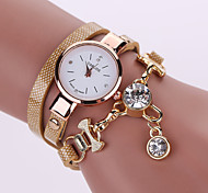 Women's Bracelet Watch PU Belt Female Models Diamond Pendant Watch Dial Gauge Coiled Three Times (Assorted Colors)