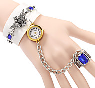 Women's Elegant Diamond Design Bracelet Quartz Watch