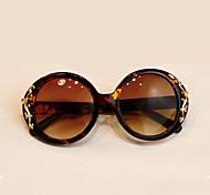 Gafas de Sol mujeres / Chica's Retro/Vintage 100% UV400 Redondo Concha de Tortuga Gafas de Sol Completo llanta