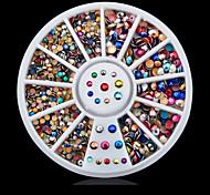 1wheel Metal Colorful Rhinestones Nail Decorations