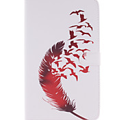 pluma roja hebillas funda para Galaxy TAB4 10,1 / 8,0 / 7,0 / TAB3 Lite / s2 pestaña 9.7 / s2 8,0 / A9.7 / a8.0 / e9.6 / E8.0 / s10.5 /