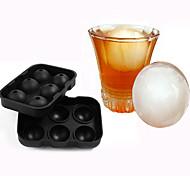 New Design 6 Hole Ice Cube Ball Drinking Wine Tray Brick Round Maker Mold Silicone Ice Hockey Maker