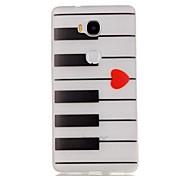 o coletor ideal do teste padrão sofe TPU luminosa piano para 5x Huawei honra