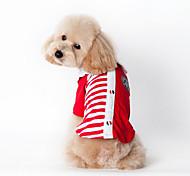 Personality Naval Stripe Printing Pet T-shirt