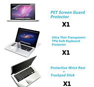 "Protective Clear Screen Guard+Thin TPU Keyboard Cover+Metal Rest and Touch Panel Membrane for 13.3""/15.4"" MacBook Pro"