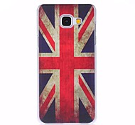 Union Jack Painted PC Phone Case for Galaxy A310/A510/A710