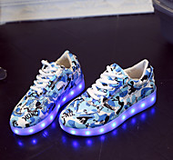 Boys' LED Shoes Outdoor / Casual Leatherette Fashion Sneakers Blue / Pink / Gray / Royal Blue