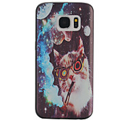 Kitty Black Edging Soft TPU Phone Case for Samsung Galaxy S6/S6 Edge/S7/S7 Edge/S7 Plus