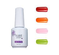 ILuve Gel Nail Polish Set - Pack Of 4 - Long Lasting 3 Weeks Soak Off UV Led Gel Varnish – For Nail Art #4016