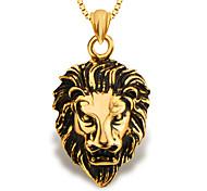 мода лев ювелирных животных кулон золото 18k покрыло мужчины / женщины подарок p30137