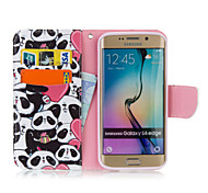 Heart Panda PU leather with Stand Case for Samsung S6 Edge