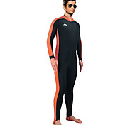 SBART Men's Wetsuit Skin / Diving Suits Diving Suit Ultraviolet Resistant / UPF50+ Dive Skins  3 to 3.4 mm Yellow / Blue / OrangeS / M /