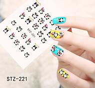 1pcs  Water Transfer Nail Art Stickers  Flower Lovely Cartoon  Nail Art Design STZ221-230