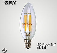 3W E12 Luces LED en Vela B 4 COB ≥350 lm Blanco Cálido Regulable / Decorativa AC 110-130 V 1 pieza