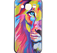 Lion Pattern TPU Phone Case For Samsung Galaxy J1 /Galaxy J5 / G5308 / G360