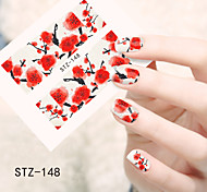1pcs  Water Transfer Nail Art Stickers  Beautiful Flower Nail Art Design STZ145-150