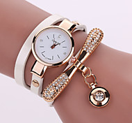 Ladies' Bracelet Watch The New Female Models Pendant With Diamond Bracelet Table Fine Band Windings (Assorted Colors)