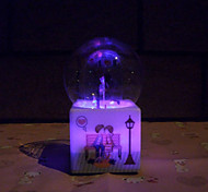 Violin Pattern Luminous Crystal Ball Music Box Creative Personality Water Spray Romantic Valentine's Day Birthday Gift
