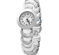 Women's Simple Design Alloy Band Quartz Watch