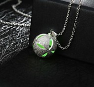 New Magical Glow in the Dark Luminous Cute Ball Pendant Necklace