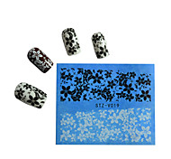 10pcs Black New Nails Art  Water Transfer Sticker  Manicure Nail Art Tips  STZV011-020