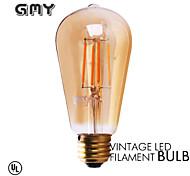 1 Stück GMY E26/E27 3W 4 COB ≥330 lm Warmes Weiß ST58 edison Vintage LED Glühlampen AC 220-240 V