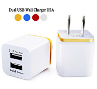 Universal  5V 2.1/1A USA Plug AC Travel Dual USB Wall Charger