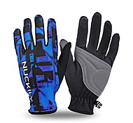 NUCKILY Bike Gloves / Cycling Gloves / Touch Screen Breathable Mountain Bike Riding Full Finger Gloves Slip Summer Touch