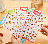A Set Handmade Diy Photo Album Book Diary Decoration Tool Cute Colorful Stickers(Style random)
