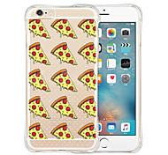 Pizza Welt weichen transparenten Silikon Tasche für iPhone 6 / 6S (verschiedene Farben)