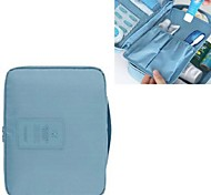Travel Inflated Mat / Toiletry Bag Travel Storage Fabric Blue