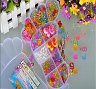 pulseira de pés grandes Beads DIY cristal transparente das crianças tecida primeira infância brinquedos educativos com a mão