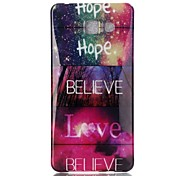 Hope love Pattern TPU Back Case for Galaxy A5(2016)/Galaxy A5(2016)