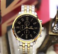 moda masculina assistir mostrador digital de três seis pinos de moda relógio de quartzo de aço