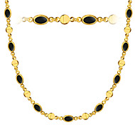 Special Black Oil Men/Women Jewelry 18K Gold Plated Crystal High Quality Necklace Jewelry Wholesale N50137